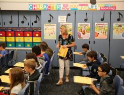 Prairie Vista students in music class