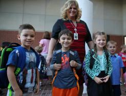 Prairie Vista kindergartners on the First Day of School 2016