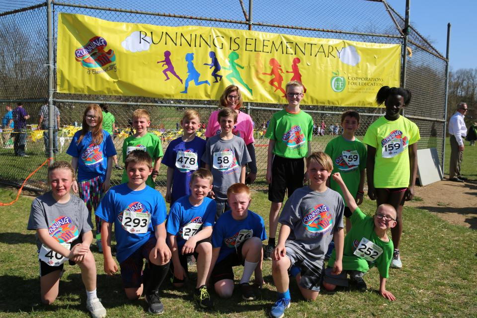 REI Organizer Cindy Batalis with student runners