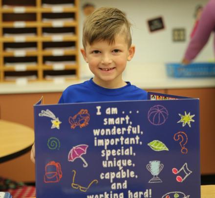 Prairie Vista 1st grade student