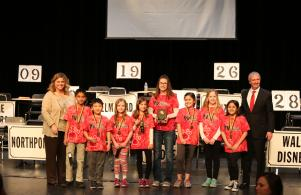 Prairie Vista's team won the 3rd grade division of the PHM Elementary Spell Bowl (3/21/17)